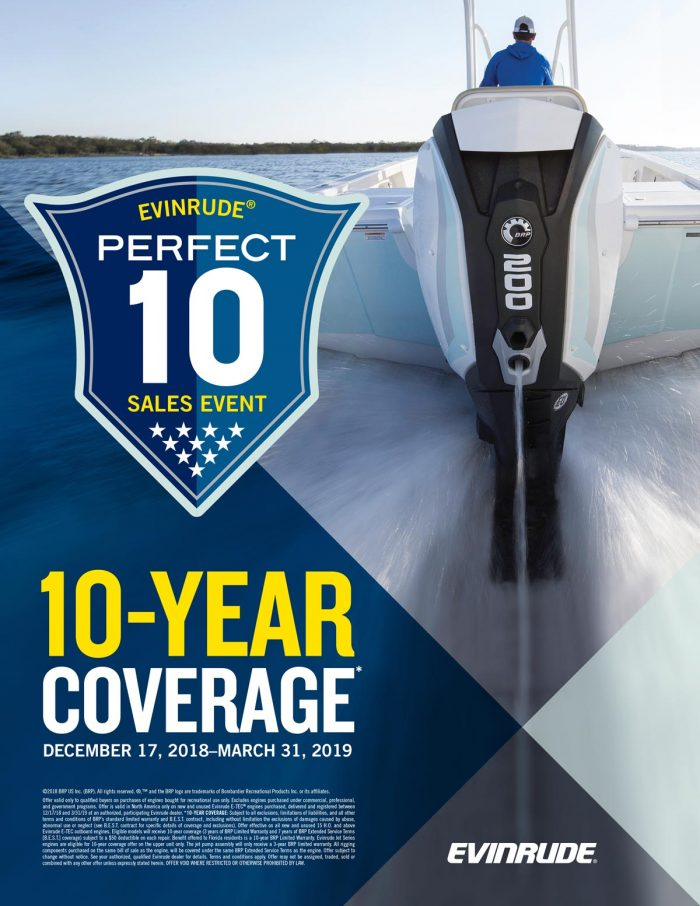 NEW EVINRUDE SALES EVENT DECEMBER 17TH 2018- MARCH 31ST 2019